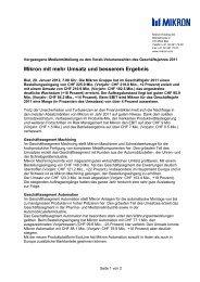 1ste Pressemitteilung Verkauf PT Division - Mikron