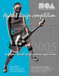 2005 Student Design Brochure - Metal Construction Association