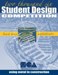 2006 Student Design Competition Brochure - Metal Construction ...