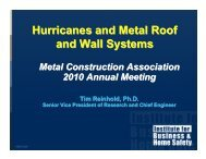 Hurricanes and Metal Roof and Wall Systems - Metal Construction ...