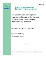 Evaluating Clean Development Mechanism Projects in the Cement ...