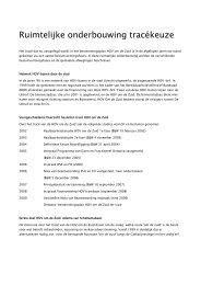 Bijlage 14 Ruimtelijke onderbouwing Tracékeuze