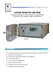 OZONE MONITOR GM-OEM FEATURES - Anseros