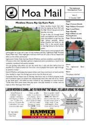 Moa Mail Issue 2, 21 October 2009 - Kete New Plymouth