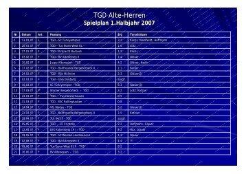 TGD Alte-Herren - Tgd Essen-West