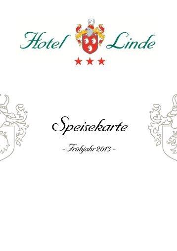 Speisekarte - Hotel Linde