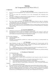 Satzung der Turngemeinde Essen-West 1910 e.V. - TGD Essen-West