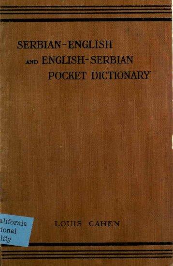 SERBIAN-ENGLISH