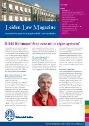 Leidse nieuwsbrief 01.04 - Universiteit Leiden