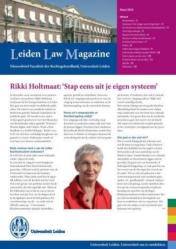 Leidse nieuwsbrief|01.04 - Universiteit Leiden