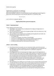 Klokkenluidersregeling Burgemeester en wethouders van ...
