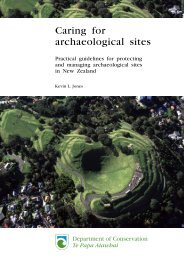 Caring for archaeological sites: practical guidelines for protecting ...