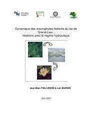 relations avec le régime hydraulique - Ecobio