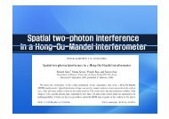 Spatial two-photon interference in a Hong Ou Mandel interferometer ...