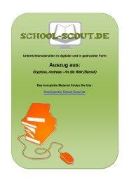 Gryphius, Andreas - An die Welt (Barock) - School-Scout
