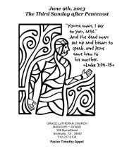 June 9th, 2013 The Third Sunday after Pentecost