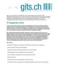 IT Supporter (m/w) - gits.ch