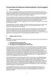 Concept kadernota Regionaal arbeidsmarktbeleid: Grensverleggend