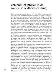 een politiek proces in de romeinse oudheid (catilina) - Tresoar