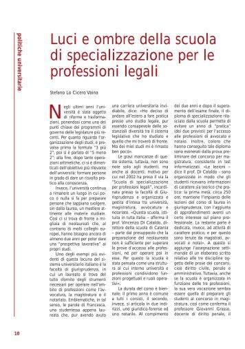 Luci e ombre della scuola di specializzazione per le professioni legali