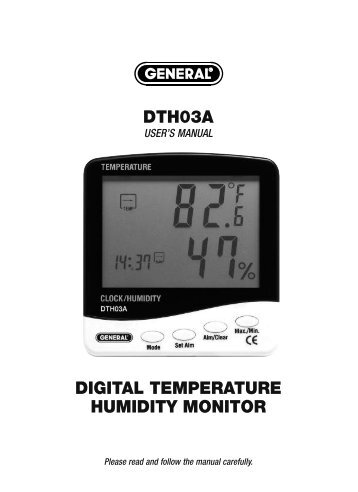dth03a digital temperature humidity monitor - General Tools And ...