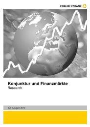 Konjunktur und Finanzmärkte - Commerzbank