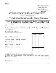 delibera di giunta comunale n. 36 del 12.03.2013 - Regione Veneto