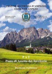 PAT Piano di Assetto del Territorio - Pieve di Cadore - Regione Veneto
