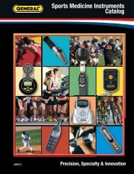 Sports Medicine Instruments Catalog - General Tools And Instruments