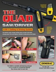 4-IN-1 Cutting & Driving System - General Tools And Instruments