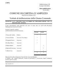 delibera di giunta comunale n. 50 del 14.03.2012 - Regione Veneto