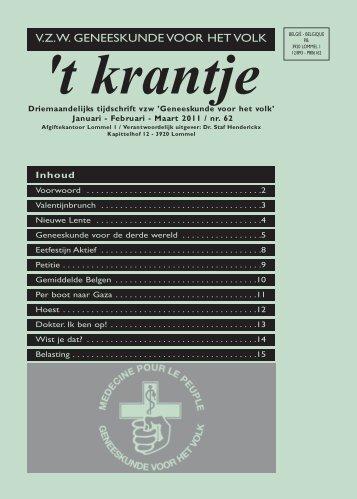 t krantje (Lommel) jan 2011/nr.62 - Geneeskunde voor het Volk
