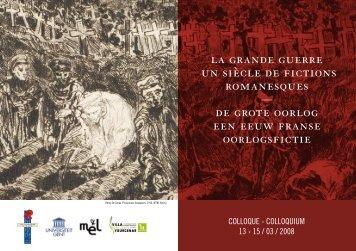 la grande guerre un siècle de fictions romanesques — de grote ...