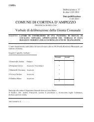 delibera di giunta comunale n. 37 del 12.03.2013 - Regione Veneto
