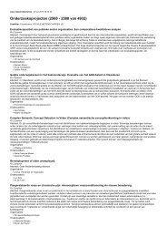 Onderzoeksprojecten (2560 - 2580 van 4932)