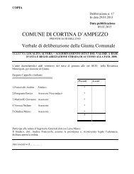 delibera di giunta comunale n. 17 del 29.01.2013 - Regione Veneto