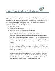 fine arts social studies note from Mrs. V.