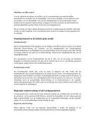 Standaardmodel en Kwaliteits-plus model Regionale ... - docs.szw.nl