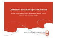 Didactische structurering van multimedia - DSpace at Open ...