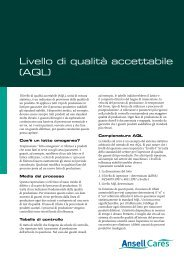 Livello di qualità accettabile (AQL) - Ansell Healthcare Europe