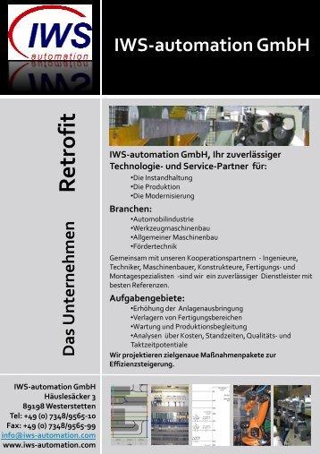 Retrofit IWS aktuell 2009-02-24 - IWS-automation GmbH