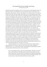 Fritz Lang und Lily Latt: Die Geschichte zweier Umwege