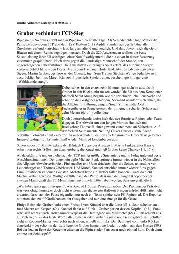 Aichacher Zeitung - FC Pipinsried