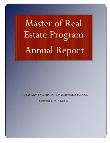 Annual Report - Mays Business School - Texas A&M University