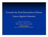 Towards the Final Generation of Dense Linear Algebra Libraries