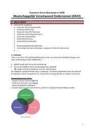 Maatschappelijk Verantwoord Ondernemen (MVO) - Bloggen.be