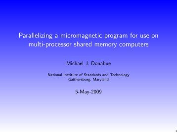 Parallelizing a micromagnetic program for use on multi-processor ...