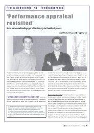 Prestatiebeoordeling – Feedbackproces - Universiteit Gent