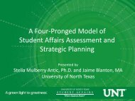 A Four-Pronged Model of Student Affairs Assessment and Strategic ...
