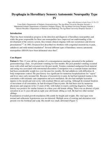 Vincent Timmerman - 'Neuropatías periféricas hereditarias'  Hereditary Sensory And Autonomic Neuropathy